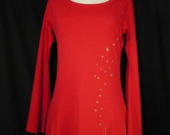 Red Fairy tunic / gold stars