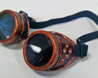 Copper Steampunk Goth Goggles