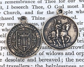 "St. Joan of Arc Religious Medal - 1"" - Catholic Medal - Vintage Replica - Made in the USA (SF-1068)"