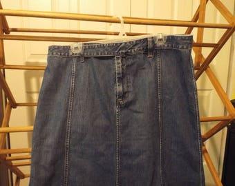Ralph Lauren Denim Jean Maxi Skirt
