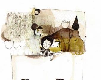 Attic whispers, postcard