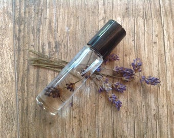 Lavender for Luck - Roll-on perfume oil infused with organic lavender