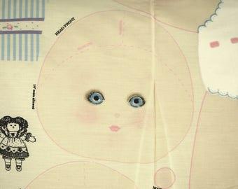 Cloth Doll Print Panel, Craft Fabric, Daisy Kingdom, Maggie Ann, 25 Inch, B25