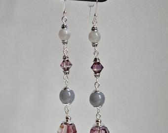 Gorgeous Swarovski and Czech Glass Earrings