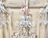Crystal chandelier ornament, chandelier ornament, shabby chic ornament, christmas ornament, french chandelier ornament, vintage french decor