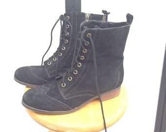 Suede Derby Boots, Victorian/ Edwardian, Steampunk Style