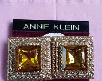 NWT Vintage ANNE KLEIN Clip On Earrings