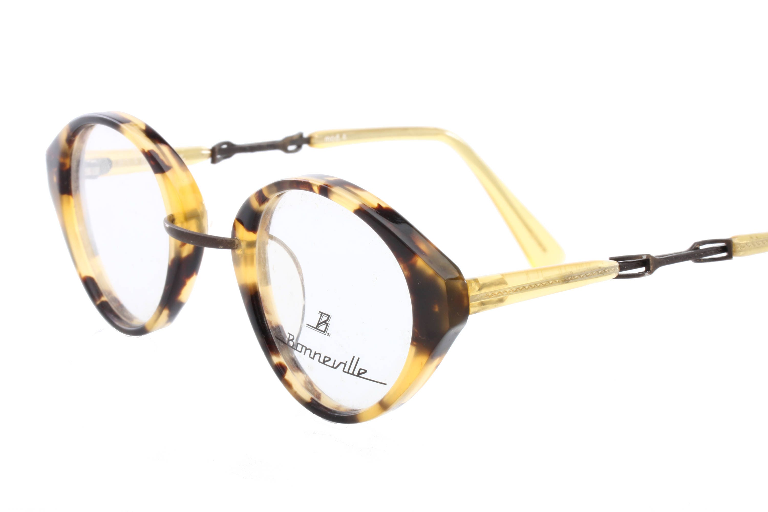 1df5a3a213 Boneville vintage ladies round - p3 demi blonde eyeglasses frames with cool  steampunk detailed temples