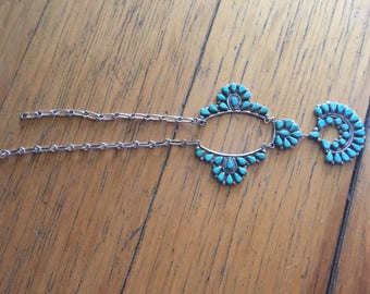 Vintage Authentic Navajo Turquoise Jewelry on Sterling Silver