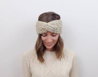 SALE Chunky Knit Turban Ear Warmer Wool Headband | THE BEMIDJI