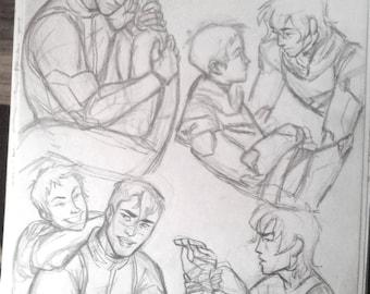 Voltron Shiro, Keith, Lance original A4