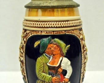 Antique Vintage Collectible German Hand Painted Beer Stein Wedding Present REDUCED