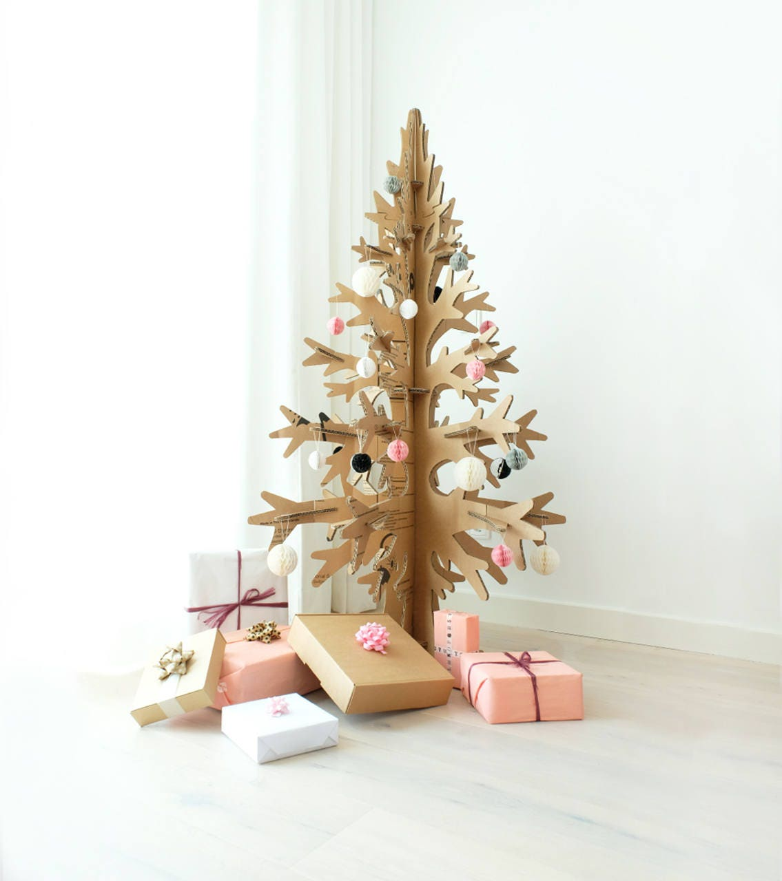 Commercial Christmas Trees From 12 To 100 In Height: 132cm / 4'33'' Brown Cardboard Laser-cut Modern Cut-out