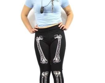 Cyber Bone Rave Leggings