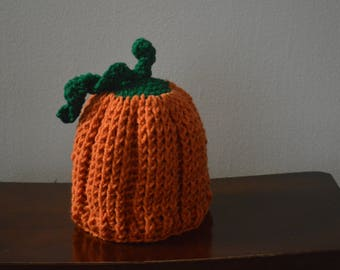 Pumpkin Hat Crochet available in 6 sizes