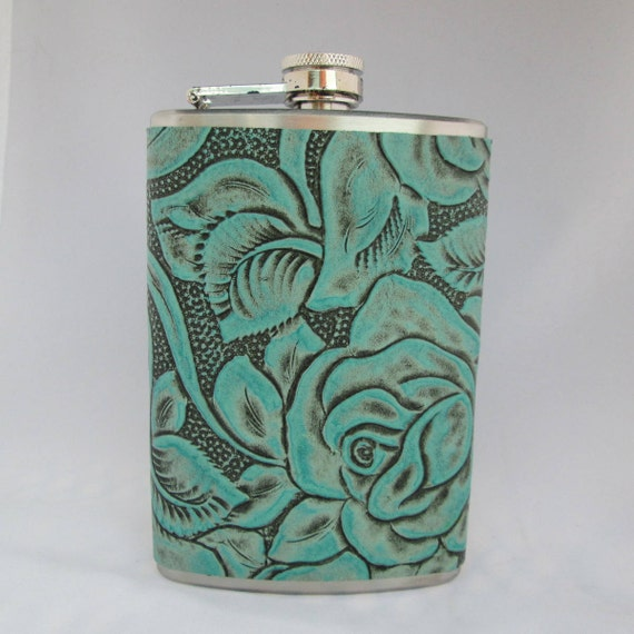 Every Day Collection Flask in Turquoise Floral