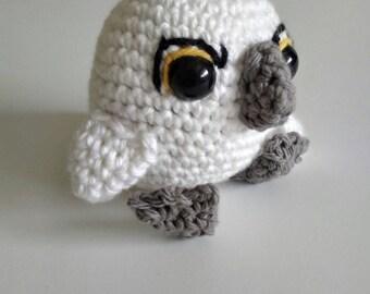 Baby puffin amigurumi, Baba from Puffin Rock, puffin plush, stuffed puffin, baby puffin toy, puffin amigurumi