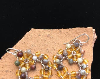 Beaded Agate & Fire Polished Crystals