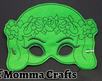 Hawaiian Goddess Childs Felt Mask