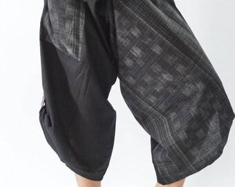 SR0255  Samurai pants with Unique Hilltribe fabric Wrap Around
