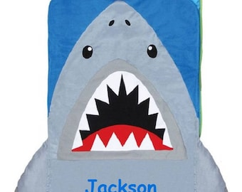 PERSONALIZED Shark Nap Mat Or Sleeping Bag For Toddler Boys Day Care Preschool And Kindergarten