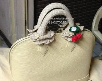Crochet Handle Cover for louis vuitton ALMA, Crochet Handle, Handle Cover. Handmade items. High quality.