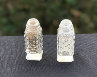 Vintage Hand Cut Japanese Lead Crystal Salt and Pepper Shakers