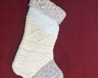 Recycled Sweater Christmas Stocking