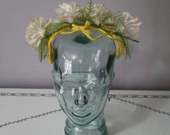 1960s Faux Flower Headband