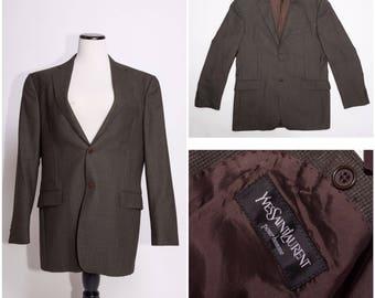 YVES SAINT LAURENT Pour Homme / Men's Blazer / Jacket / Suit Coat