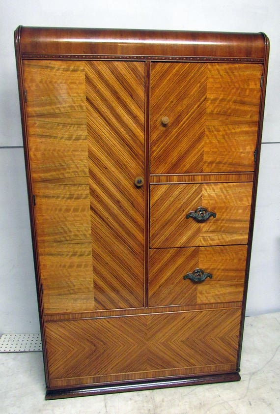 Art Deco Armoire Dresser waterfall chiffarobe