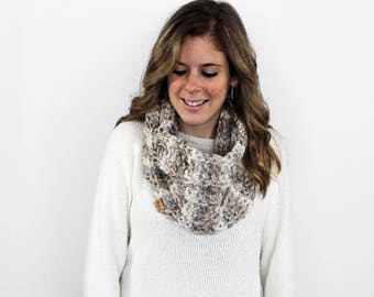 Infinity Scarf, Chunky Knit Scarf, Knitted Scarves- Cheverly Cowl