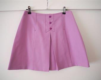 original 60s mod mini skirt purple M