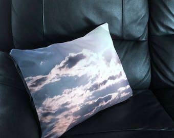 Sun Beam Clouds Photo Throw Pillow Cover