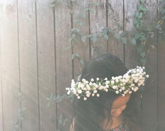 Babies Breath Flower Crown