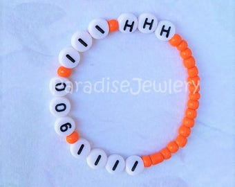 Personalized Emergency Phone Number, Safety ID Bracelet, Toddler, Child, Adult Size, Beaded ID Bracelets, Lost Child, Contact Bracelet
