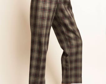 LACOSTE checked pattern high waist pants