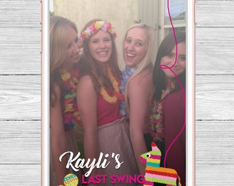 Last Swing Before the Ring Pinata Fiesta Bachelorette Party Snapchat Filter