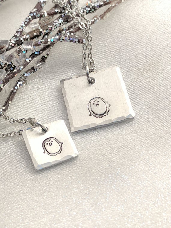 Penguin Necklaces-Mommy and Me Jewelry-Mother and Daughter Necklace Set-Matching Necklaces- Set of Necklaces-Big Sister Little Sister Gifts