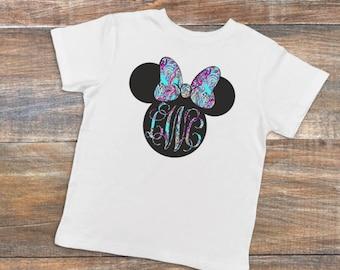 Youth Lily Pulitzer Minnie Mouse Monogram Shirt - vacation shirt - Disney shirts