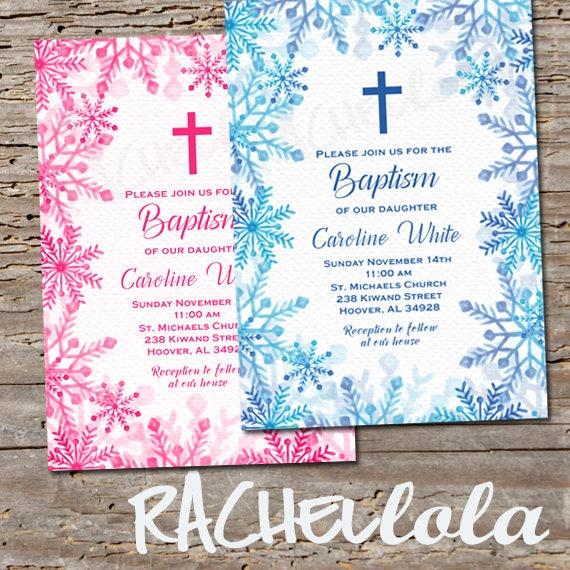 diy baptism invitation