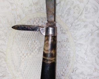 Richards Sheffield England Knife 2 Blade Pocket Knife Handle