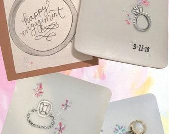 Hand-Painted Custom Ring Dish