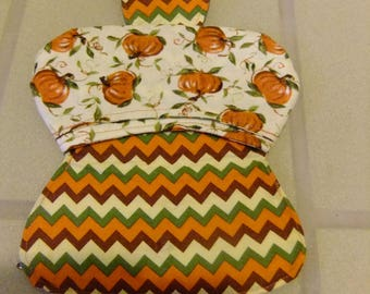 Pumpkin snap pouch with two pockets - small clutch - coin purse