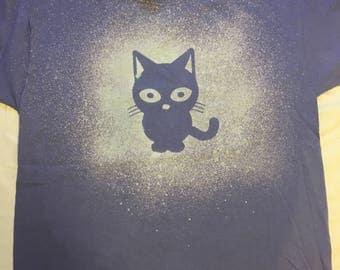 Little Kitty Cat Bleached T-shirt