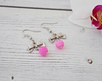 Love - vintage pink earrings, pink vintage earrings, vintage earrings, antique pink earrings, bridal earrings, pink jewelry pink earrings
