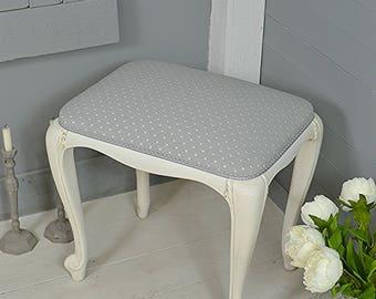 shabby chic stool etsy. Black Bedroom Furniture Sets. Home Design Ideas