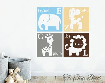 Nursery Wall Decal   Wall Decal Nursery   Safari Decal   Children Decal    Animals Decal
