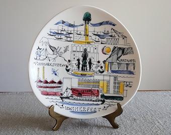 Stavangerflint Hammerfest plate // mid century, post war modern, Scandinavian design, Norway, mid mod tableware, Finnmarksvidda Nordkapp