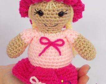 Amigurumi Doll  Amigurumi Girl Doll  Pink Amigurumi Doll  Amigurumi Baby Doll  Gift for Girl  Girl Gift  Girl Birthday Gift
